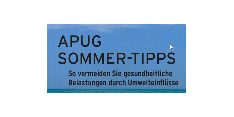 APUG Sommer-Tipps