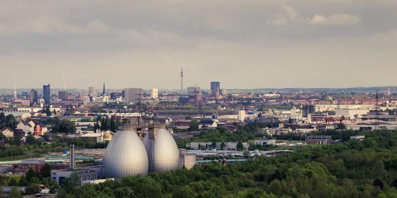 Luftbild der Stadt Dortmund