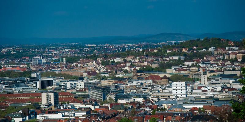 Luftaufnahme der Stadt Stuttgart