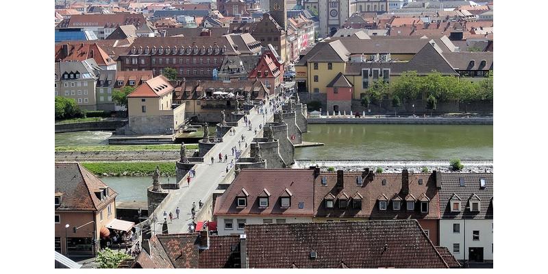 Luftaufnahme der Altstadt Würzburg