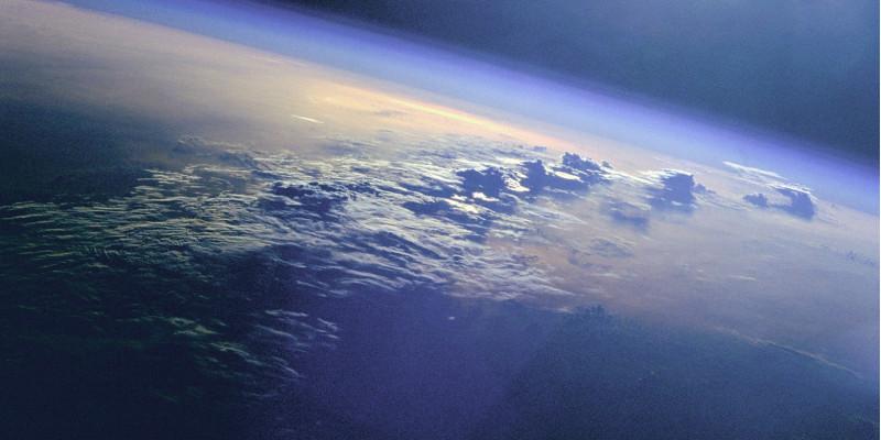 Blick aus dem Weltraum auf den Indischen Ozean