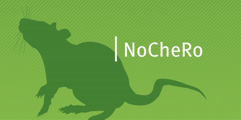 Die Silhouette einer Ratte vor grünem Hintergrund