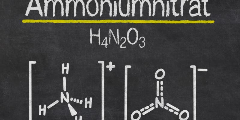 Die Formel für Ammoniumnitrat