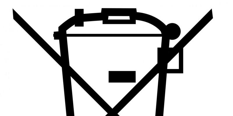 """Symbol """"Durchgestrichene Tonne"""""""