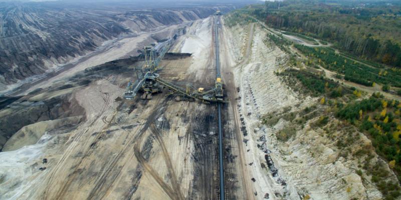 Ein Kohletagebau