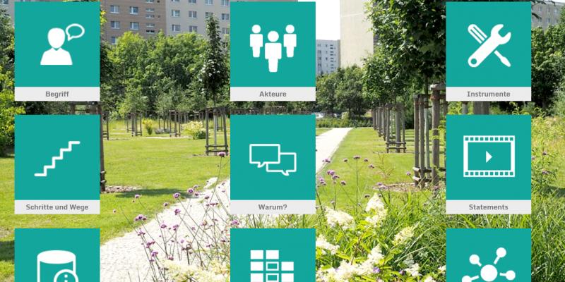Screenshot der Startseite der Toolbox