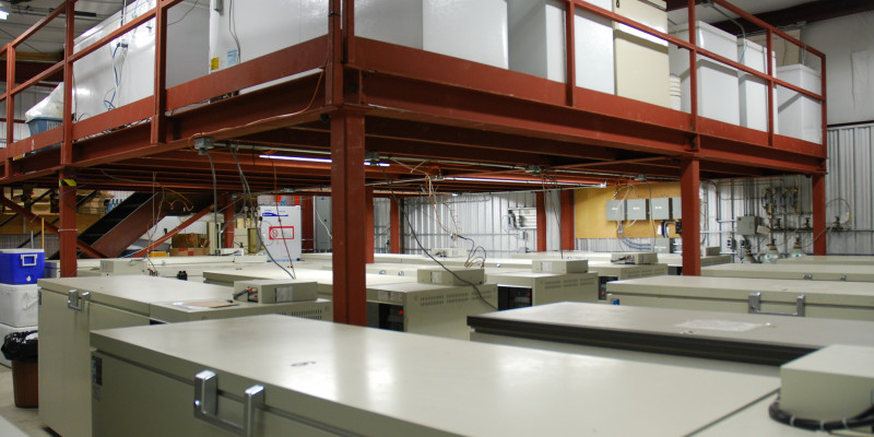 Freezer room at Canada's National Aquatic Biological Specimen Bank and Database