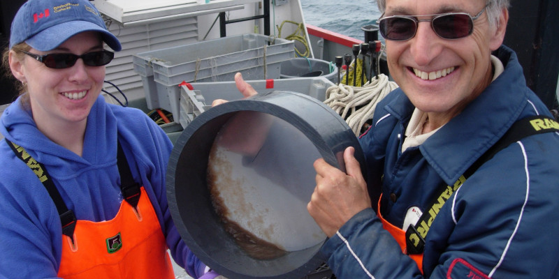 Collecting plankton in Canada
