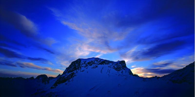 Sonnenaufgang auf der Zugspitze.