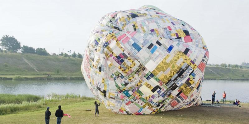 Heißluftbalon aus Plastiktüten