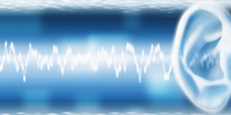 Abbildung Schallwellen und ein Ohr