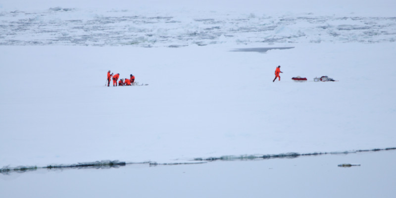 Ice samples taken from the Antarctic polar ice provide researchers with valuable information.