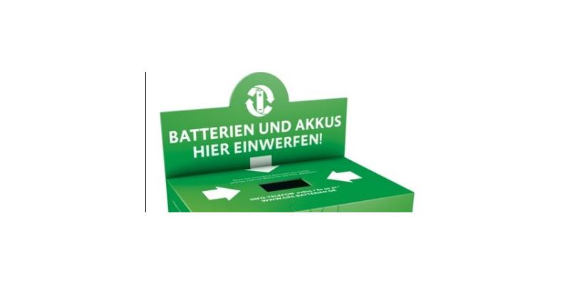 GRS-Batterien-Sammelbox der Stiftung Gemeinsames Rücknahmesystem Batterien
