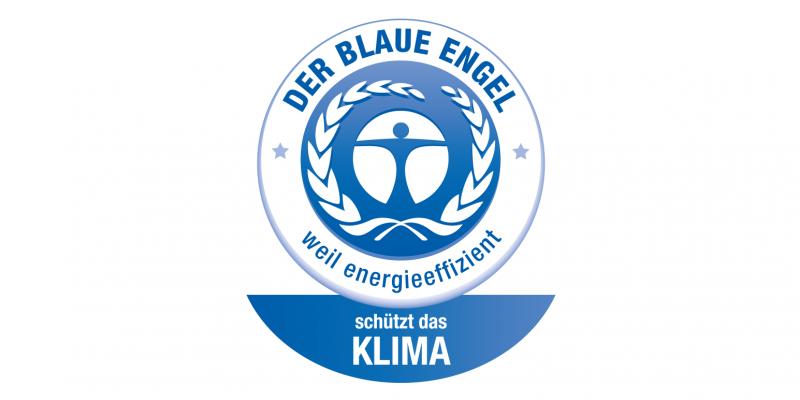 """Label """"Blauer Engel für Staubsauger"""""""