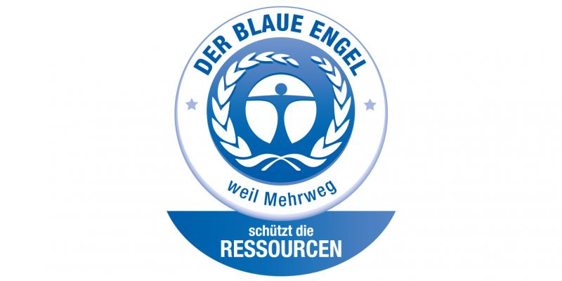 Label Blauer Engel für Mehrwegverpackungen