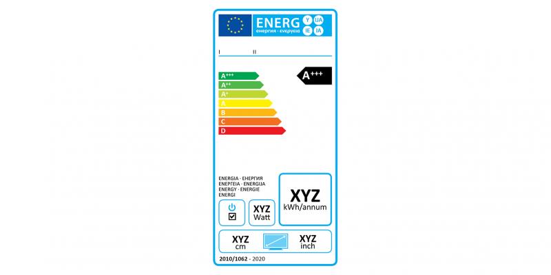 EU-Energielabel für Fernsehgeräte