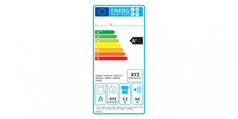 EU-Energielabel Wäschetrockner (Gasbetrieben)