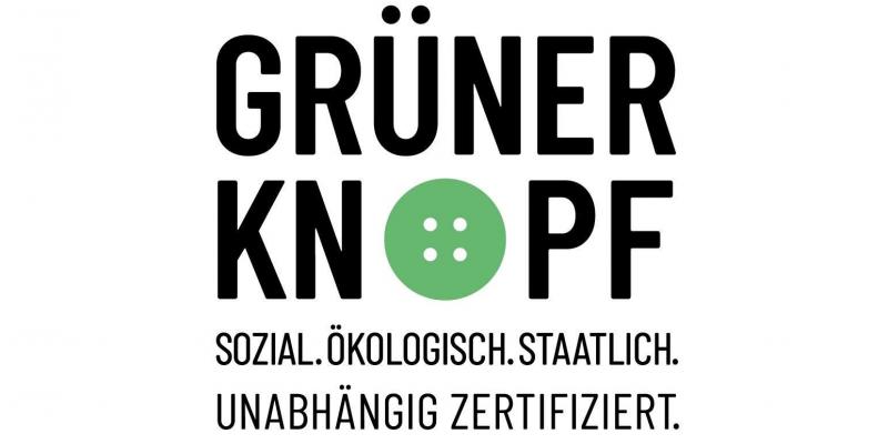 Siegel Grüner Knopf für Textilien