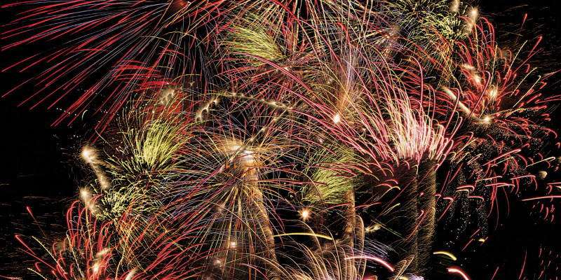 Colorful new year's Eve Fireworks