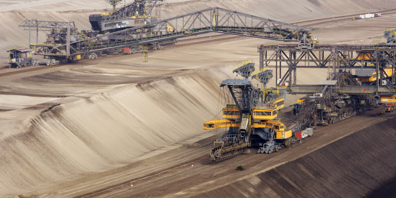 Braunkohleförderung im Tagebau