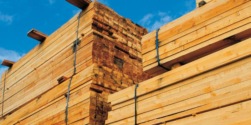 Holzlatten zum Hausbau