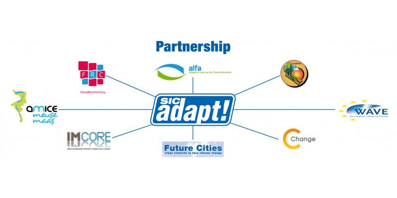 SIC adapt!-Logo und Logos der Partner