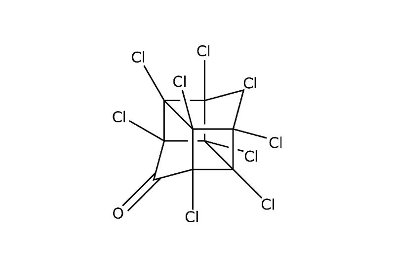 Strukturformel von Chlordecon