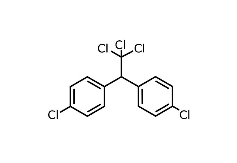 Strukturformel von DDT