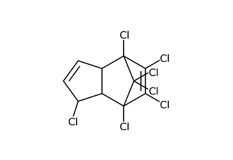 Strukturformel von Heptachlor