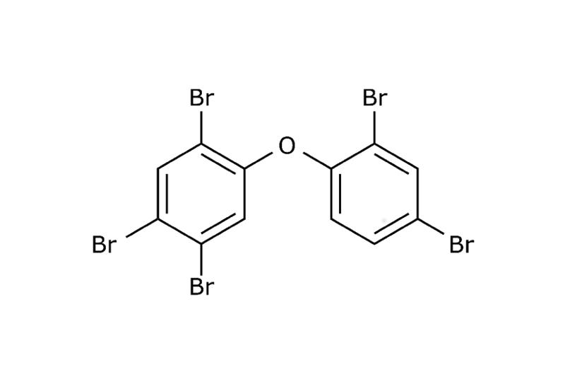 Beispielhaft für PBDE hier die Strukturformel von PentaBDE
