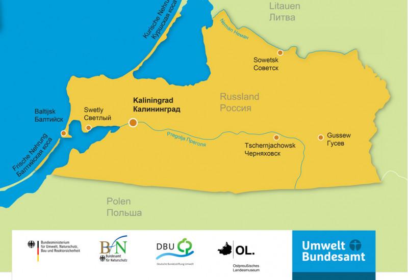 Übersichtskarte zum Kaliningrader Gebiet