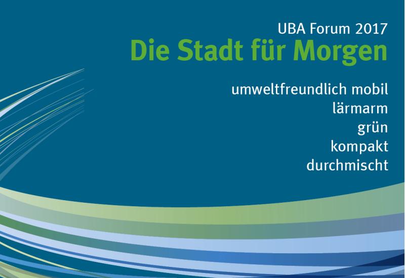 """Banner mit der Aufschrift """"UBA Forum mobil und nachhaltig"""""""