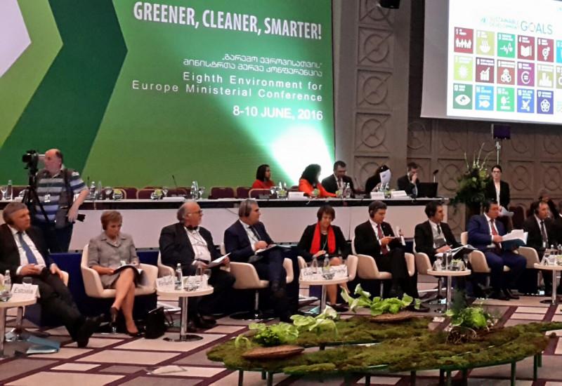 """Minister und Ministerinnen auf der 8. """"Umwelt für Europa""""-Konferenz"""