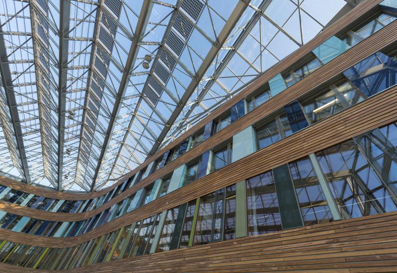 Innenansicht des UBA-Gebäudes in Dessau-Roßlau