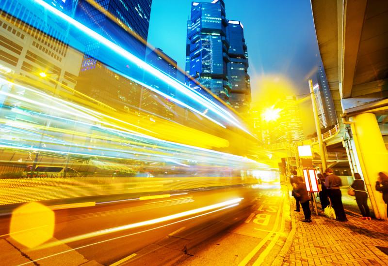 Verkehrslichter in der Stadt