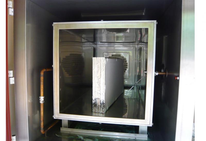 Gipskartonplatten in einer Emissionsprüfkammer
