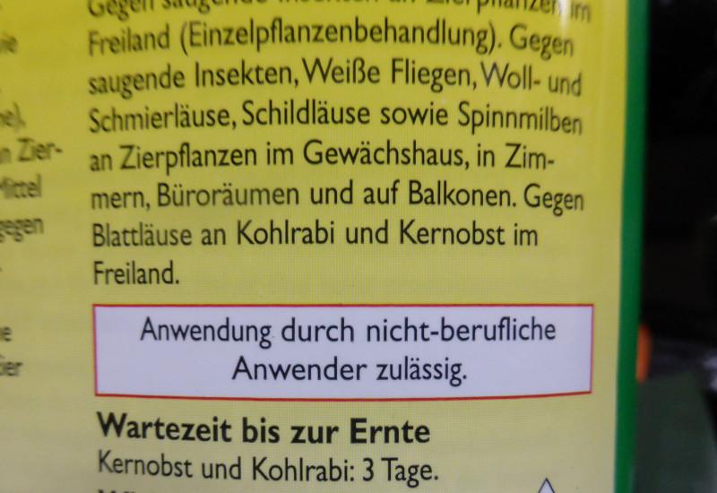 """Kennzeichnung """"Eignung für nicht berufliche Anwender"""" auf einer Verpackung"""