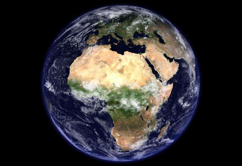 Satellitenbild auf Planet Erde