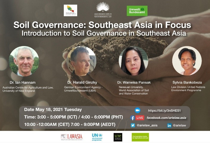 "Bild zeigt Bildschirm mit Webinar ""Soil Governance: Southeast Asia in Focus"""
