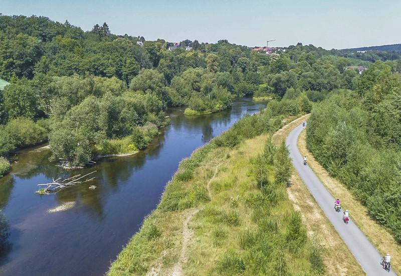 Fluss Ruhr bei Arnsberg