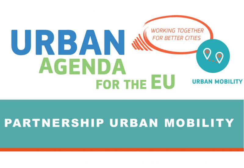 Logo der EU Städteagenda im Themenfeld Mobilität