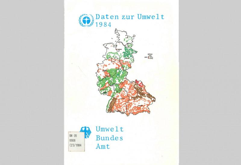 """Cover der UBA-Veröffentlichung """"Daten zur Umwelt"""" von 1984"""