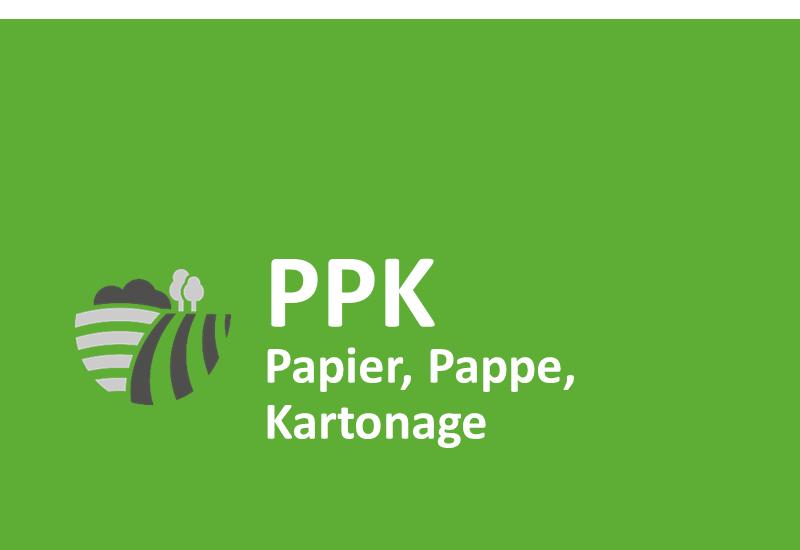 Papier, Pappe, Kartonage (PPK)
