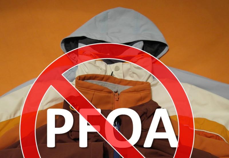 Die Verwendung von PFOA in Textilien und Imprägniersprays ist ab 2020 verboten.