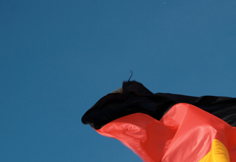 flag of germany blowing in the wind