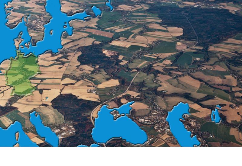 Umweltschonende Raumplanung in Deutschland, das ein Teilbereich Europas ist