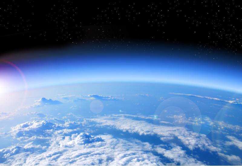 Blick auf die Erde aus dem Weltall