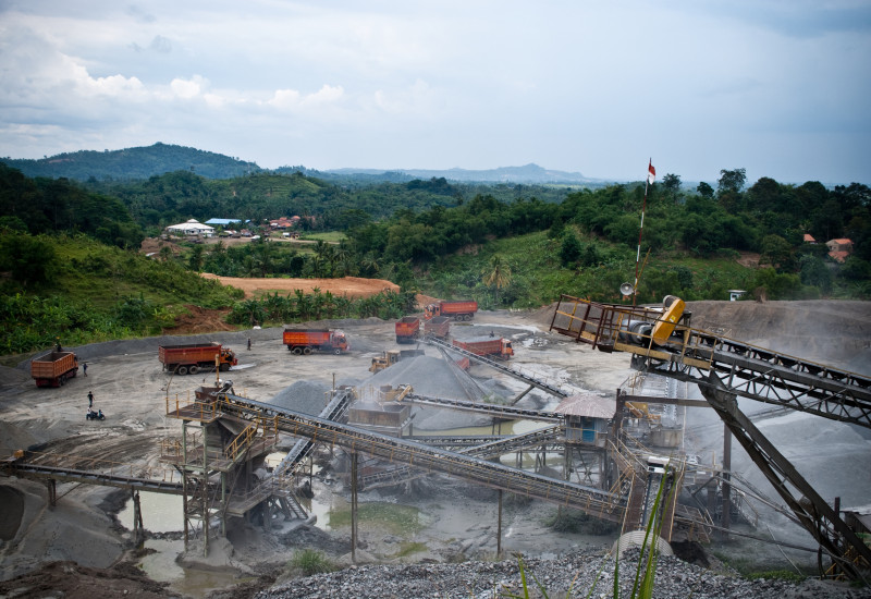 raw material mining