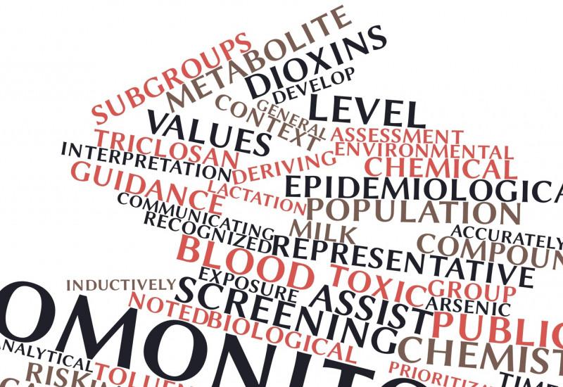 viele Begriffe zum Thema Biomonitoring