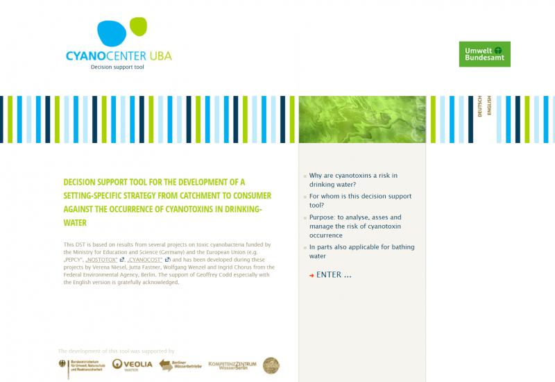 Homepage of the website www.toxische-cyanobakterien.de